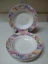 Lynn's Stoneware Set of 4 Rimmed Soup Bowls ~ Nice  - $29.69