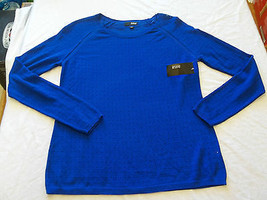 Women's a.n.a. Extreme Blue Long Sleeve Sweater Blouse Medium New W Tags - $29.69