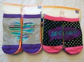 Faded Glory Girls Socks No Show Size Medium 7.5-3.5 ~ 12 Pairs Hearts Dots - $10.88
