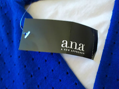 Women's a.n.a. Extreme Blue Long Sleeve Sweater Blouse Medium New W Tags
