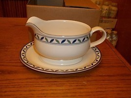 Mikasa Rosette Gravy Boat With Under Plate NEW  - $29.69