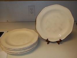 Target Home Stoneware Plates ~ Brush Strokes Ruffled Edges ~ Set of 7 ~ ... - $98.99