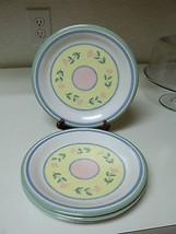 Century Stoneware Floral Pattern ~ Set of 4 Dinner Plates  - $36.62
