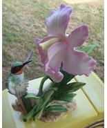 Vintage 1985 Homco Masterpiece Porcelain Figurine Hummingbird Glory of N... - $34.00