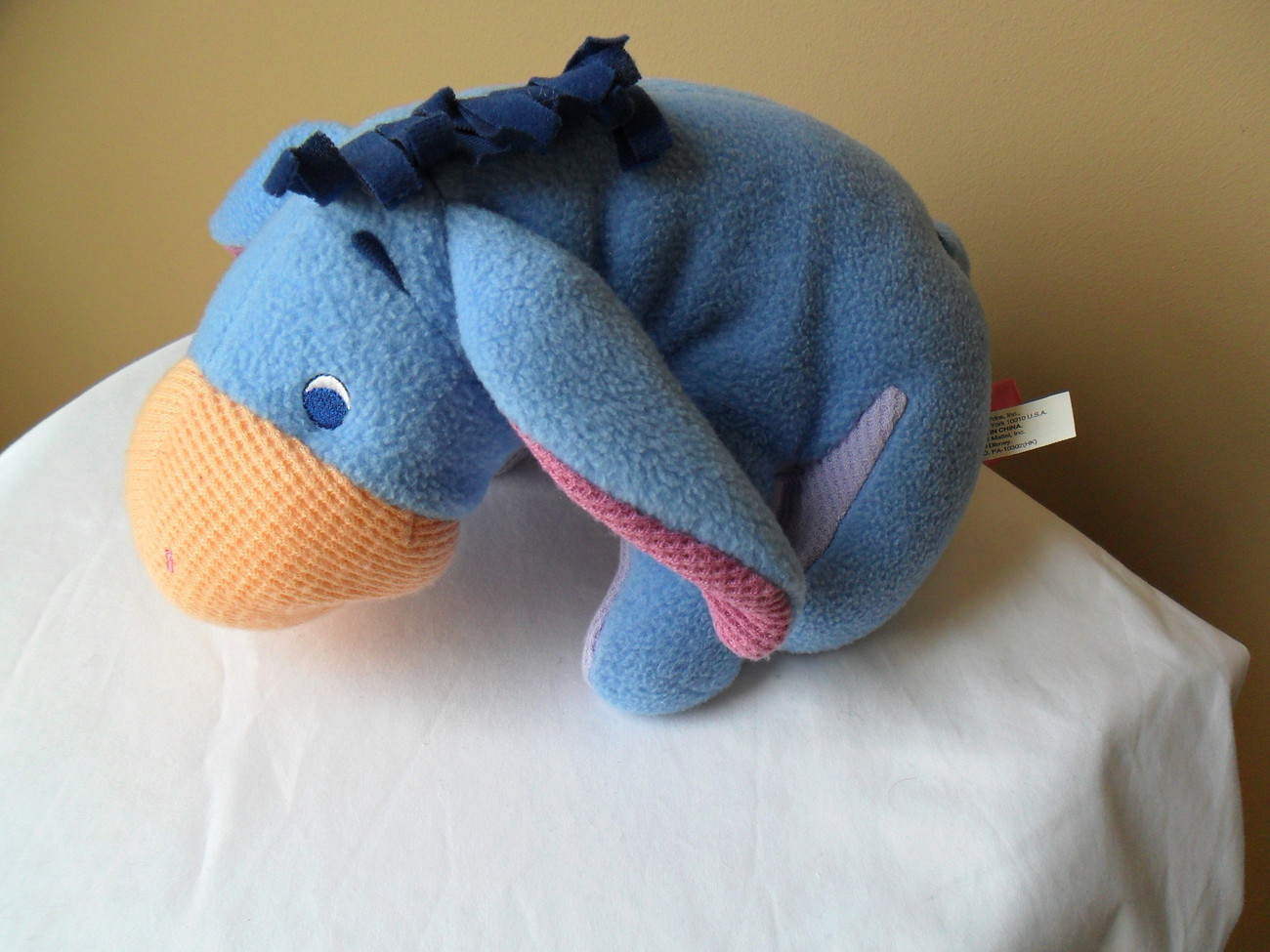 """EEYORE Pooh and Friends 2001"""" Fisher Price Plush Stuffed Animal 10"""" Baby Rattle"""