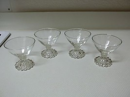 Nice Clear Glass Sherbet Bowls ~ Set of 4 ~ Ice... - $29.69