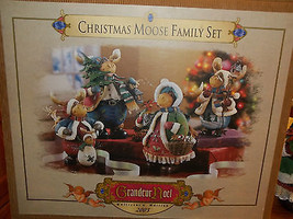Grandeur Noel ~ Christmas Moose Family Set ~ Very Rare!  - $138.59