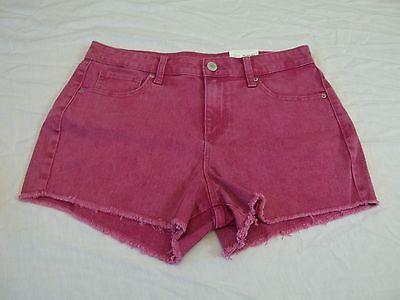 Women's Decree Jean Shorts Ultra Pink Size 7 New W Tags HOT! Cutoff Shorts - $18.80