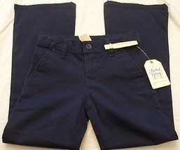 Girls Faded Glory Pants Bootcut Chino Blue Sapphire Size 5 New With Tags - $9.89