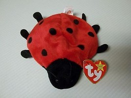 TY Beanie Baby - Retired LUCKY Ladybug  9 DOTS TAG ERROR & PVC Pellets - $19.80
