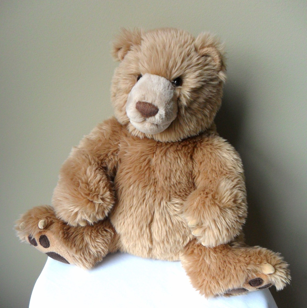 """Gund Kohls Cares for Kids Plush Bear, Suede Paws,  # 44184 Stuffed Toy 14"""" tall"""