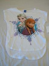 Girls Disney Frozen Tee Shirt White Short Sleeve XLarge New W Tags - $10.88