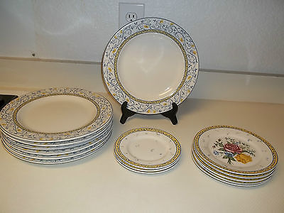 Primary image for American Atelier ~ Mareille ~ 15 Piece Set ~ Plates Dinner & Salad Plates Flower