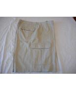 Men's Covington Shorts Cargo Harbor Twill Khaki Shorts Sz 42 New - $24.74