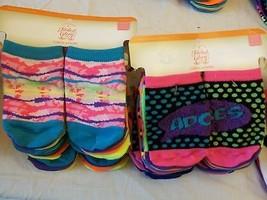 Faded Glory Girls Socks No Show Size Small 4-7 1/2 ~ 12 Pairs Dots Crazy Socks - $10.88