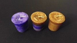 3pc Patchouli Nag Champa Crystal Journey Soy Reiki Healing Herbal Votive... - $10.00