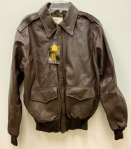 Genuine 1992 Air Force Usfa Flyers Men's Leather Type A-2 Flight Jacket - 40L - $405.90