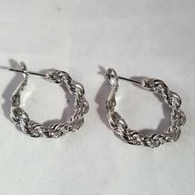 FASHION SILVER PLATED SMALL HOOP EARRINGS - $5.99