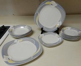 Town House Fine China Gray Mist 12 Piece Set Bowls & Plates - $54.44