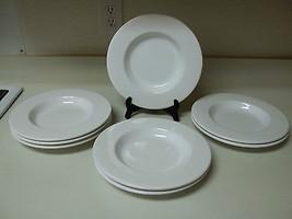 ASA Selection Germany Set of 8 Rimmed Shallow Bowls White Stoneware - $128.69