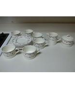 Mikasa Intaglio Annette 6 Cups 6 Saucers Sugar Bowl w Lid & Creamer - $59.39