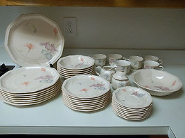 Mikasa Craft Works Magic Moods 40 Piece Set Plates Bowls Cups Serving Pieces - $227.69