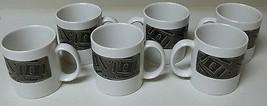 Sakura Stoneware Set of 6 Cups Vice Versa Port of Call Black  - $46.52
