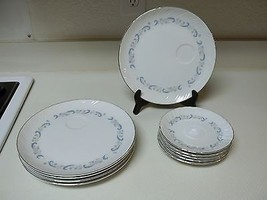 Camelot China Japan ~ Gracious ~ 10 Pieces ~ Saucers & Snack Plates - $59.39