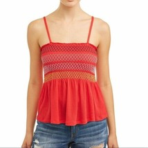 No Boundaries Women's Juniors Smocked Striped Tube Top Shirt 3XL (21) Red - $15.83