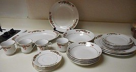 Fairfield China Poinsettia 22 Piece Dish Set Service for 4 Plus Platter ... - $98.99