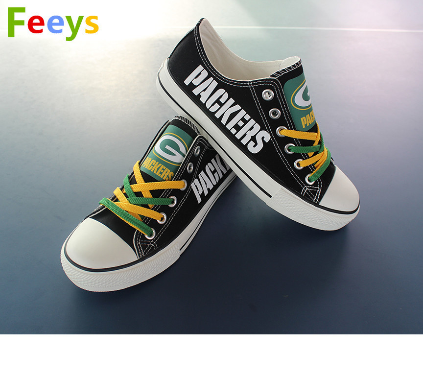 Green Bay Packers shoes Packers sneakers Fashion Christmas gift birthday gift s1