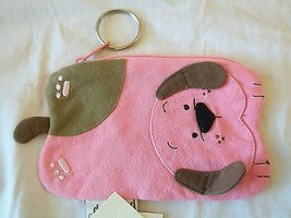 Pet Shop Zippered Coin Purse Key Chain Pink Puppy Dog New W Tags - €9,00 EUR