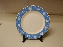 Royal Norfolk Blue Snowflake Dinner Plates ~ Set of 8 Dinner Plates Stoneware  - $69.29