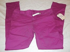 Girls Faded Glory Pants Passionate Plum Size 6 New W Tags Skinny Chino - $9.89