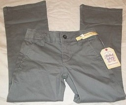 Girls Faded Glory Pants Bootcut Chino Flannel Gray Size 5 New With Tags - $9.89