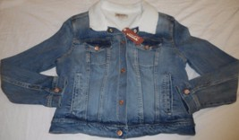 Women's Juniors Arizona Jean Jacket Coat Crosby Size LARGE NEW - $49.49