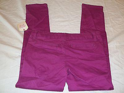 Girls Faded Glory Pants Passionate Plum Size 6 New W Tags Skinny Chino