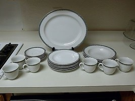 Mikasa Belvedere Fine China ~ 21 Piece Set ~ Plates Bowls Cups  - $108.89