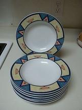 Christopher Stuart Montero ~ Set of 7 Rimmed Soup Bowls ~ Excellent  - $69.29
