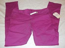 Girls Faded Glory Pants Passionate Plum Size 10 New W Tags Skinny Chino - $9.89