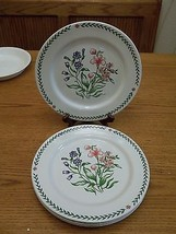 Global Designs Dinner Plates ~ Floral Flowers ~ Set of 4  - $36.62
