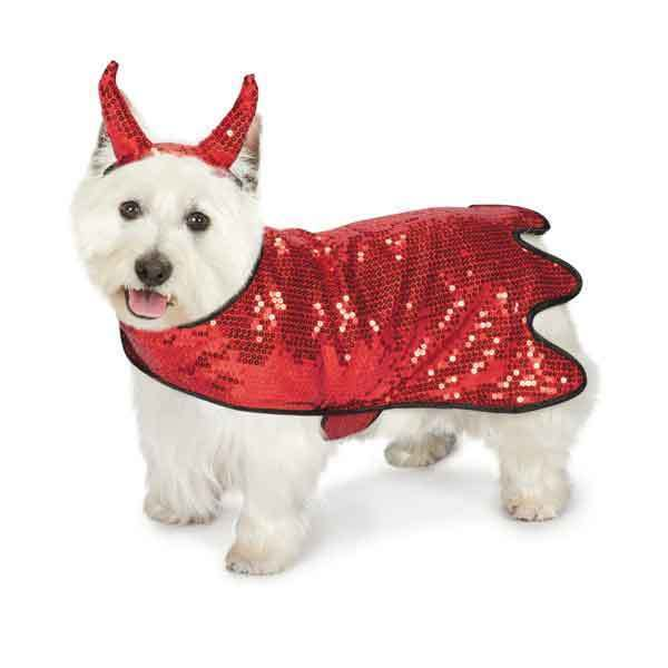 Dog Halloween Costume Sequin Devil Pet BRAND NEW Zack & Zoey