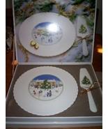 Mikasa Cake plate with Server ~ Seasons Greetings - $29.69