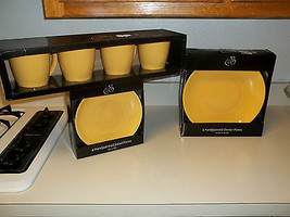 222 Fifth Dinnerware ~ Yellow ~ Mugs ~ Dinner Plates ~ Salad Plates  - $98.99