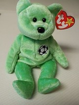 TY Beanie Baby Very Rare 1998 Kicks the Bear with 2 Tag Errors NO NUMBER... - $24.75