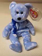 Ty Beanie Baby 1999 Holiday Teddy BLUE SNOWFLAKE BEAR MWT FLAT TAG - $14.85