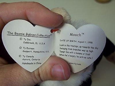 f914d8b746b Ty Rare Mooch The Monkey Beanie Baby With 2 and 22 similar items