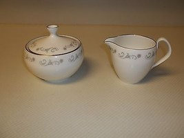 Royal Worcester Bridal Lace ~  Fine Bone China ~ Creamer & Sugar Bowl Wi... - $84.14