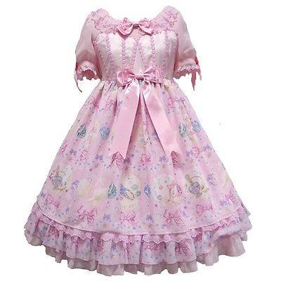 Angelic Pretty Jewel Marine OP Onepiece Dress Pink Sweet Lolita Japanese Fashion