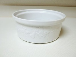 Crate & Barrel Portugal ~ Large White Bowl with Embossed Fruit  - $39.59